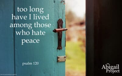 Too long have I lived among those who hate peace