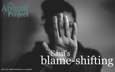 Saul's blame-shifting tactics